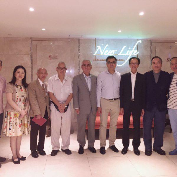 葉樹堃先生與梁錦松先生訪及午餐