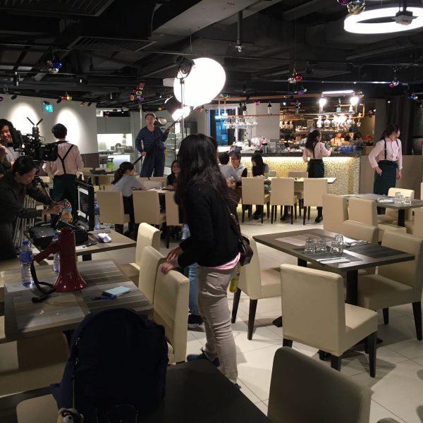 餐廳借出場地予演藝學院進行微電影拍攝